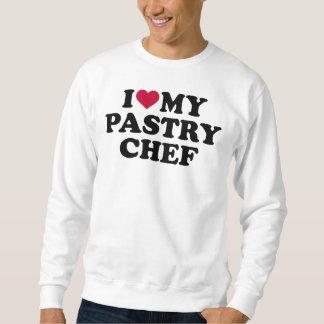 Moletom Eu amo meu cozinheiro chefe de pastelaria