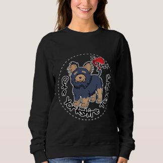 Moletom Eu amo meu yorkshire terrier engraçado & bonito