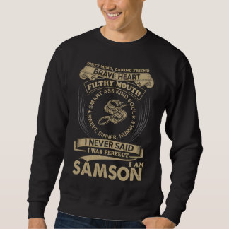 Moletom Eu era perfeito. Eu sou SAMSON