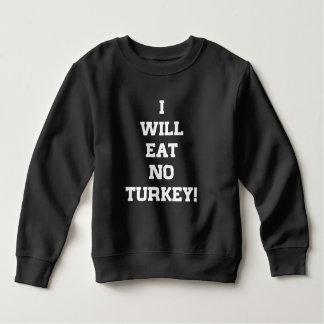 Moletom Eu não comerei nenhuma Turquia