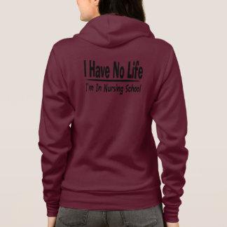 Moletom Eu não tenho nenhuma vida Im na escola de cuidados