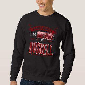 Moletom Eu sou impressionante. Eu sou RUSSELL. Presente