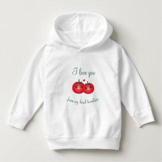 Moletom Eu te amo de minha chalaça bonito da fruta dos