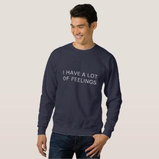 Moletom EU TENHO MUITA camisola dos SENTIMENTOS