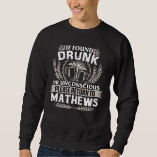 Moletom Excelente a ser t-shirt de MATHEWS
