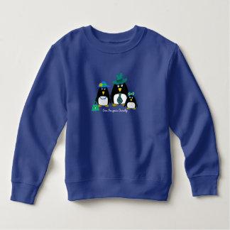 Moletom Família do pinguim do divertimento de 3 camisolas