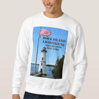 Moletom Farol da ilha da rocha, camisola de New York