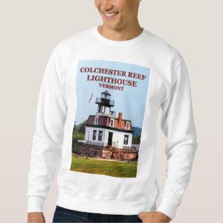 Moletom Farol do recife de Colchester, camisola de Vermont