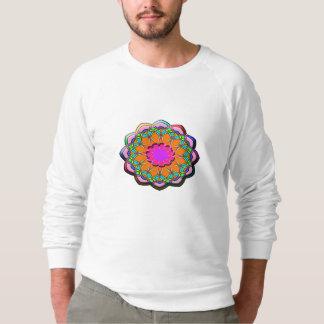 Moletom Flor abstrata colorida