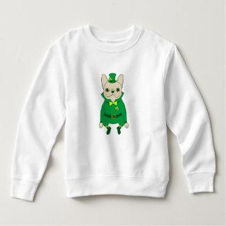 Moletom Frenchie bonito afortunado no dia de St Patrick