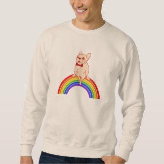 Moletom Frenchie comemora o mês do orgulho no arco-íris de