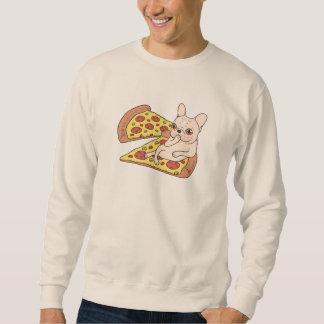 Moletom Frenchie de creme convida-o a seu partido da pizza