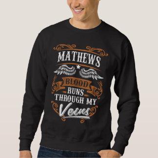 Moletom Funcionamentos do sangue de MATHEWS com meu Veius