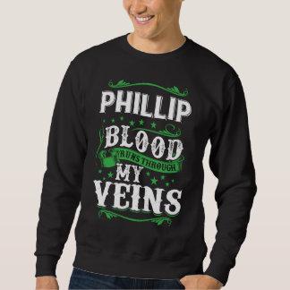 Moletom Funcionamentos do sangue de PHILLIP com meu Veius.