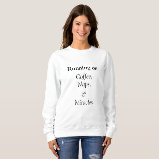 Moletom Funcionando no crewneck do café, das sestas e dos