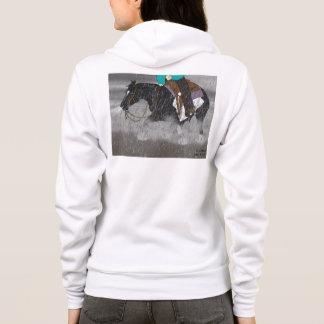 Moletom Garanhão preto e branco do cavalo de Overo