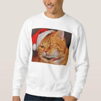Moletom Gato alaranjado - gato de Papai Noel - Feliz Natal