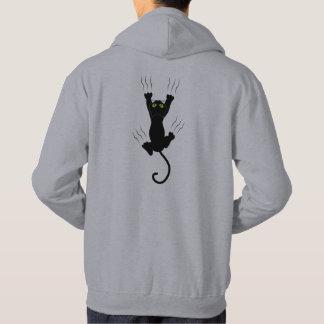Moletom Gato engraçado que cai e que grabing com garras