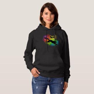 Moletom Gato preto e t-shirt colorido bastão da névoa
