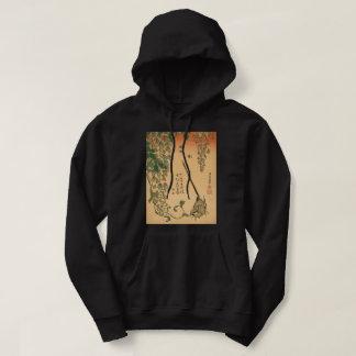 Moletom Glicínias de Hokusai e arte do vintage de