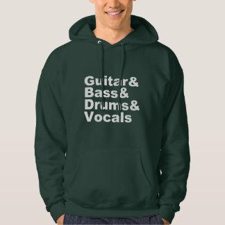 Moletom Guitar&Bass&Drums&Vocals (branco)
