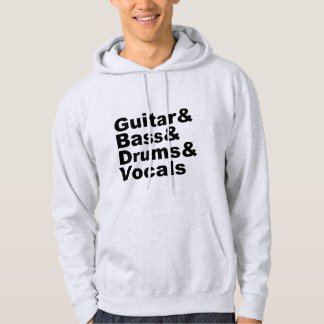 Moletom Guitar&Bass&Drums&Vocals (preto)