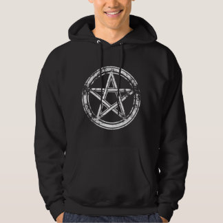 Moletom Hail Satanás Hoodie - Pentagram cross - 666 -