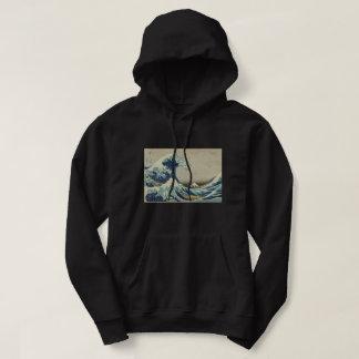 Moletom Hokusai a grande onda fora da arte de Kanagawa