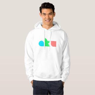 Moletom Homem branco do Hoodie do logotipo da cor de AKU