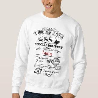 Moletom Hoodie agradável do Natal da lista da entrega