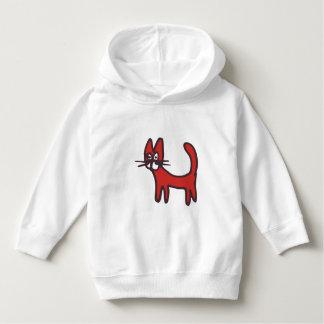 Moletom Hoodie animal dos miúdos - gato vermelho dos