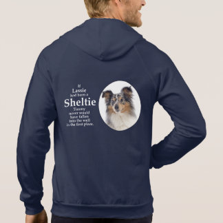 Moletom Hoodie azul do Merle Sheltie de Timmy