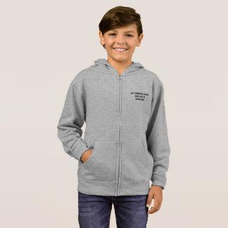 Moletom hoodie básico do fecho de correr dos miúdos
