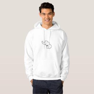 Moletom hoodie branco do elefante do xoxo