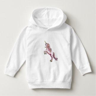 Moletom Hoodie cor-de-rosa bonito do unicórnio