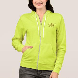 Moletom hoodie customizável da camisola do alfabeto do