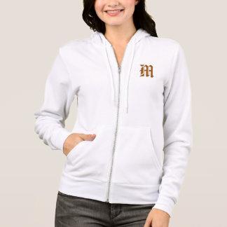 Moletom hoodie customizável m da camisola do alfabeto do