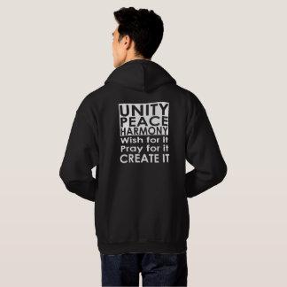 Moletom Hoodie da harmonia da paz da unidade