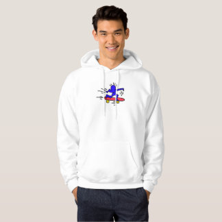Moletom Hoodie de SkateboardMan do pop art de DreamySupply