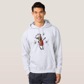 Moletom Hoodie de toque ligeiro da rena do dançarino