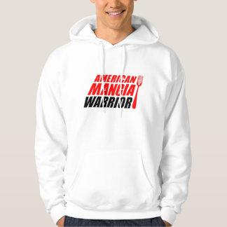 Moletom Hoodie do guerreiro de Mangia do americano