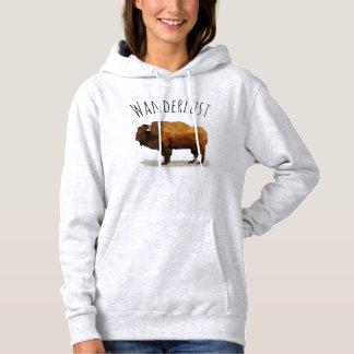 Moletom Hoodie do WANDERLUST: Búfalo americano (bisonte)