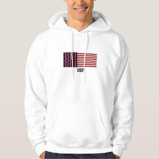 Moletom Hoodie tecido da bandeira dos EUA