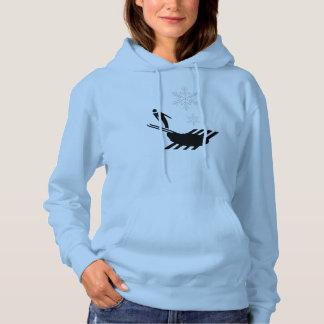 Moletom Hoodie tribal do esqui do esquiador do inverno pro