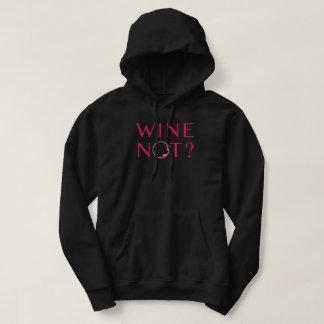 Moletom Humor do amante de vinho do vinho não |