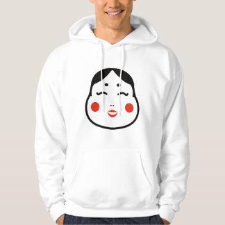 Moletom ilustração japonesa da cara do okame dos desenhos