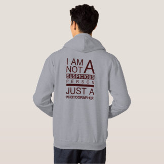 Moletom Im não um hoodie do vermelho da pessoa suspeito