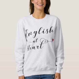 Moletom Inglês na camisola do coração, Inglaterra