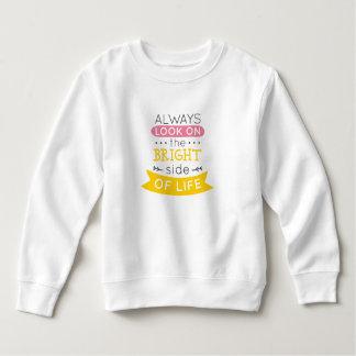 Moletom Inspirado a parte positiva de camisola da vida |