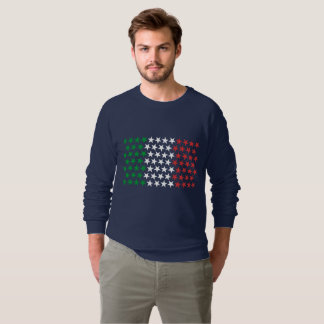 Moletom Inspirado pela bandeira italiana. Edição das